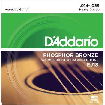 D´addario EJ18 Phosphor Bronze Heavy cuerdas guitarra acústica